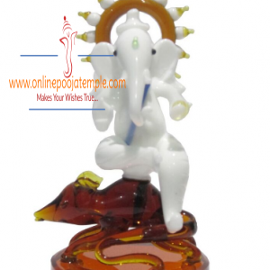 Brown Glass Ganesha on mouse