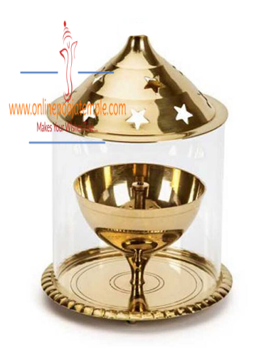 Brass Golden Akhand Diya Small